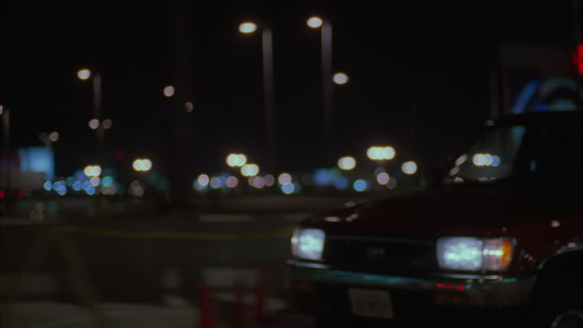 Night process plates raked passenger streets front airport terminals around LAX, soft focus Various back side angles | Shutterstock HD Video #21209059