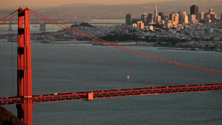 Golden Gate Bridge spanning the San Francisco Bay
