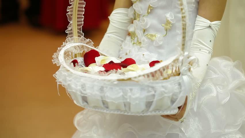 Flower Girls Basket Stock Footage Video 100 Royalty Free