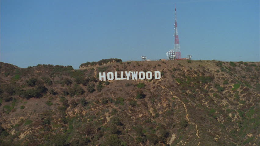 Hd0028day Aerial Hollywood Sign Hills Font Color Black