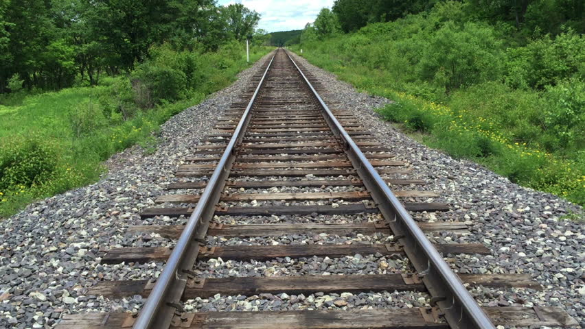 Railroad Tracks Stretching Into the Stock Footage Video (100% Royalty-free)  21330889 | Shutterstock