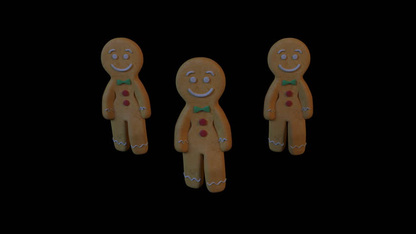 Gingerbread Dancers - gangnam style. 3D animation of funny, hot and sweet cookie boys dancing for holiday and kid event, show, VJ, party, music, website, banner, dvd. | Shutterstock HD Video #21343981