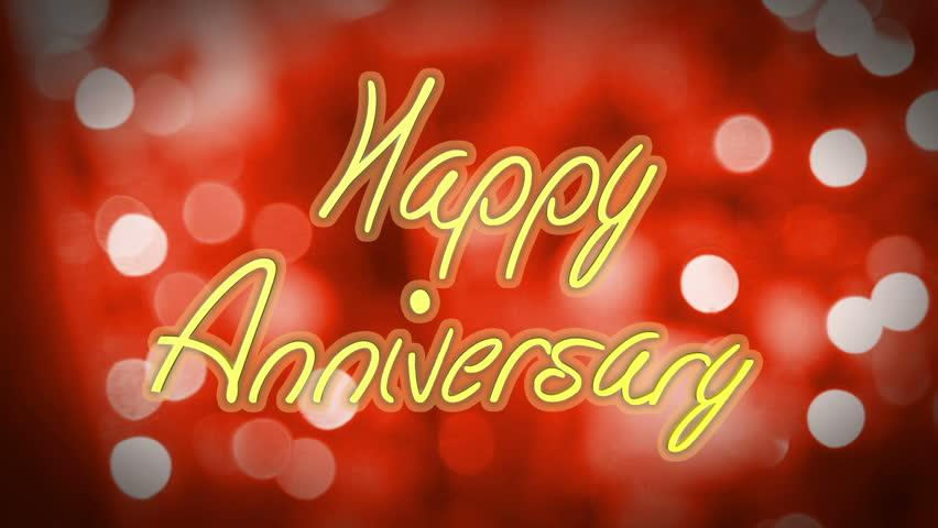 Romantic Happy Anniversary Congratulation Message Stock Footage