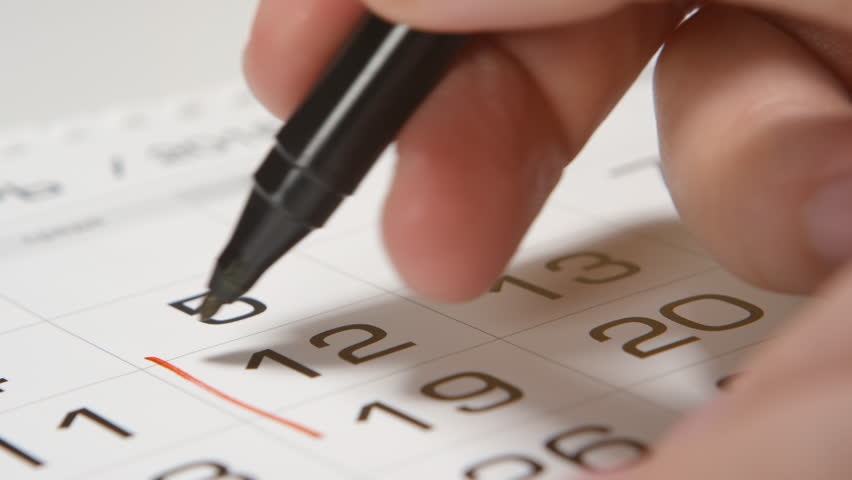 Signing a day on a calendar by red pen (square) | Shutterstock HD Video #21448849