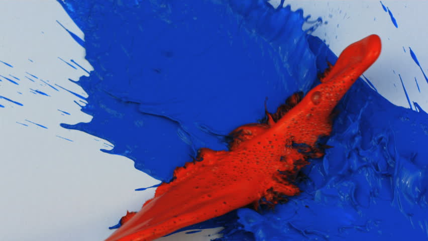 slow motion red and blue stock footage video  100  royalty