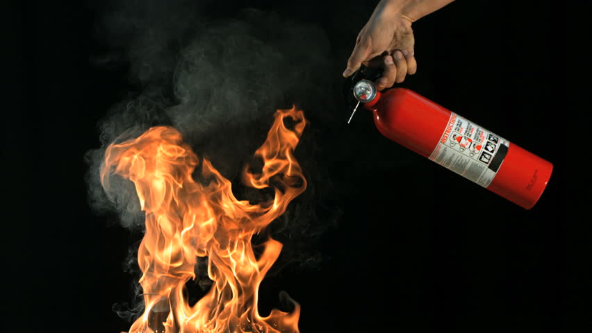 Slow motion fire extinguisher and flames   Shutterstock HD Video #21468127