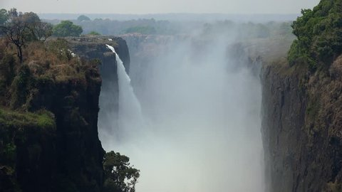 Victoria Falls (filmed from Zimbabwe) as detailed 4K UHD footage