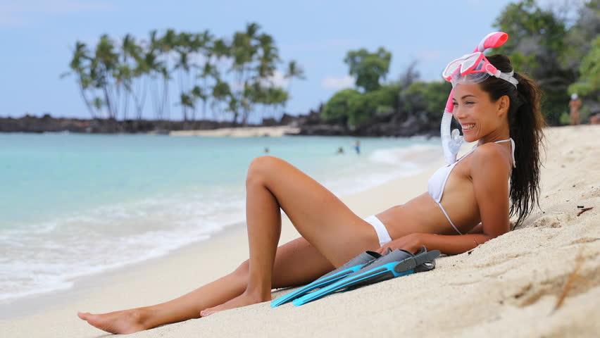 Important beach bikini fun that interfere
