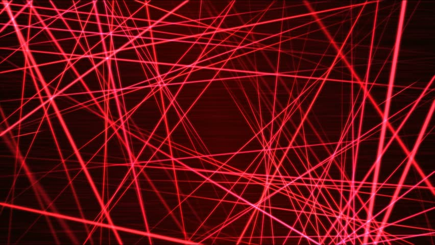 Moving through Light/Laser Beams Animation Animation - Loop Red