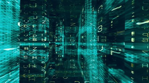Digital Graffiti 048: Traveling through a maze of streaming data (Loop).