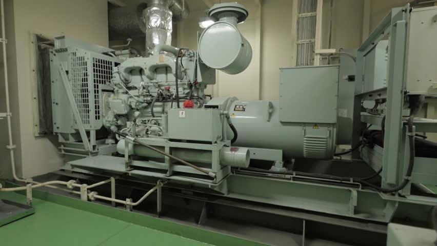 Emergency Diesel Generator Of Ship Stock Footage Video