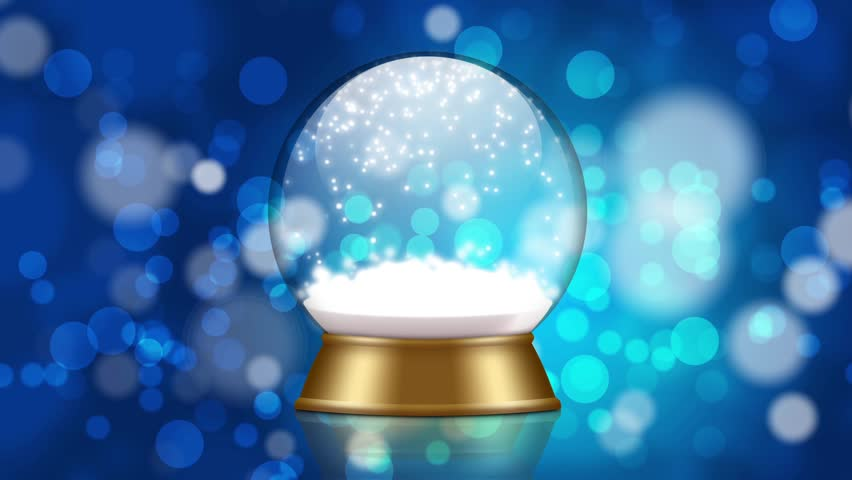 Snowglobe animation with falling snow on a blue background  | Shutterstock HD Video #21571399