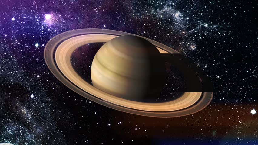 Stock video of rotation of the planet saturn hdalistic 21571636 hd0030rotation of the planet saturn hdalistic imaging of saturn planet with rings in space with stars nebula altavistaventures Images