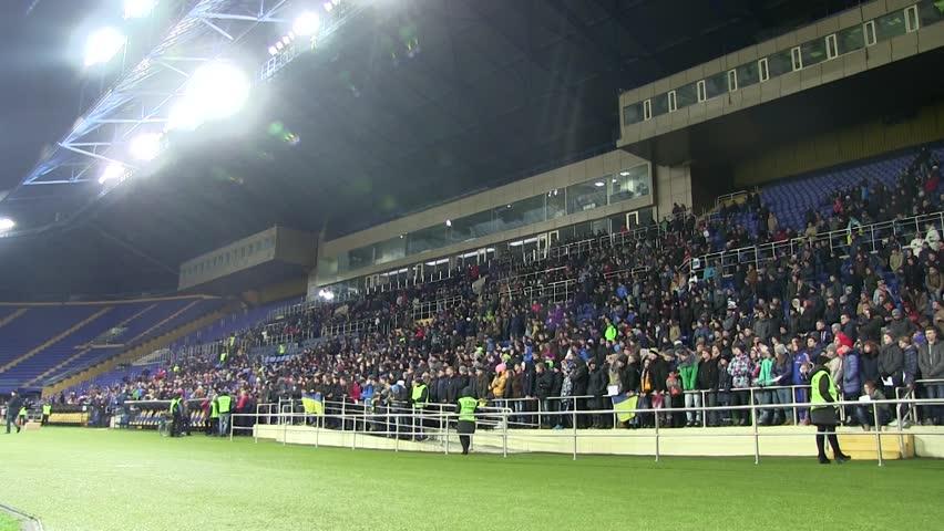 Football Fans At Stadium
