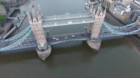 Aerial View London Topshot Towerbridge Overhead