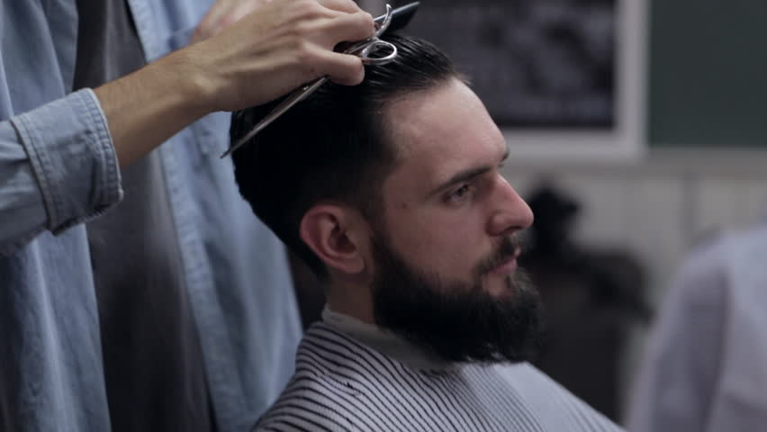 Male Barber with a Male Stock Footage Video (100% Royalty,free) 21615649