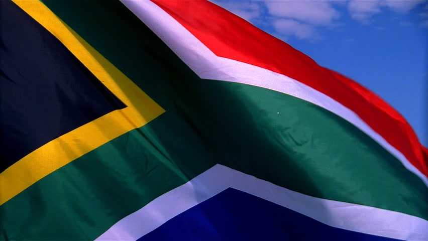 Closeup of South Africa flag