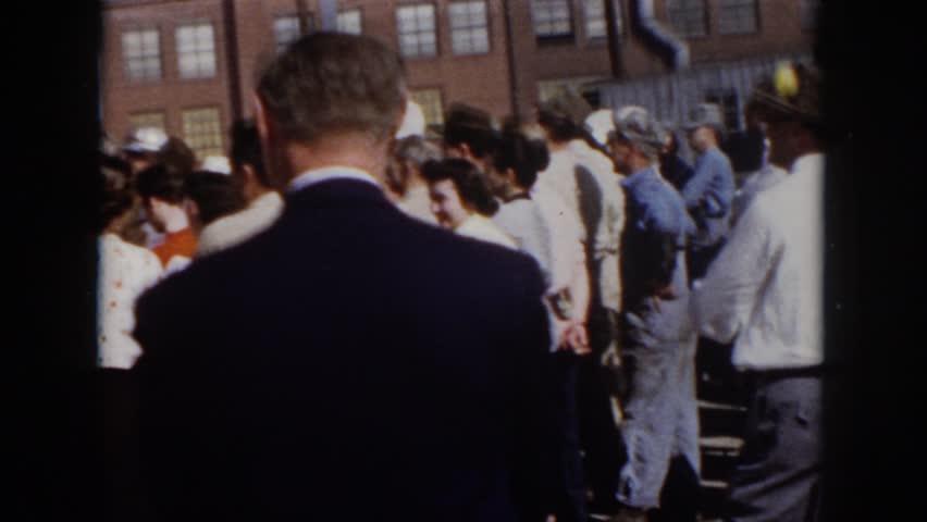 VIRGINIA 1958: an old man in a suit walking in a crowd, is he a terrorist? | Shutterstock HD Video #21617188