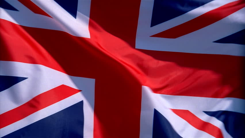 Closeup of United Kingdom of Great Britain and Northern Ireland flag