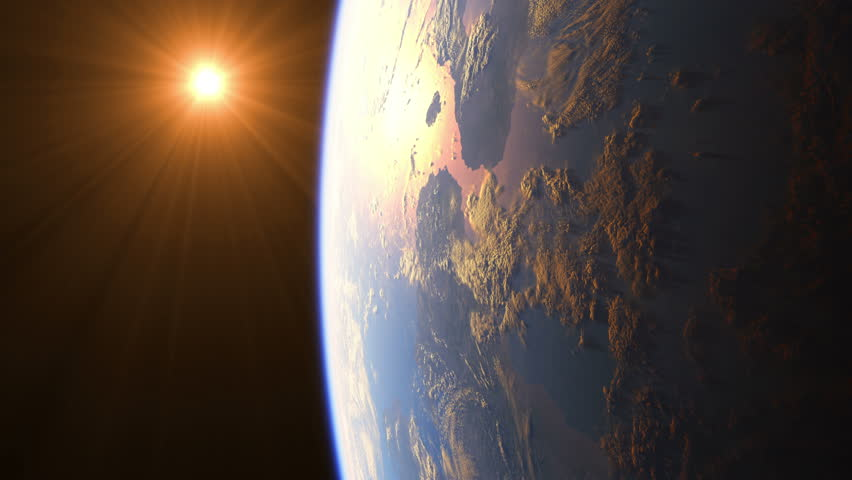 Sunrise Over The Earth. Amazing View Of Planet Earth From Space. Ultra High Definition. 4K. 3840x2160. Realistic 3d Animation. | Shutterstock HD Video #21626479
