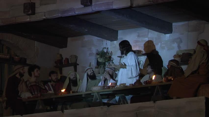 ANTIGNANO, ITALY - APRIL 6: Via Crucis (Way of the Cross). Representation of