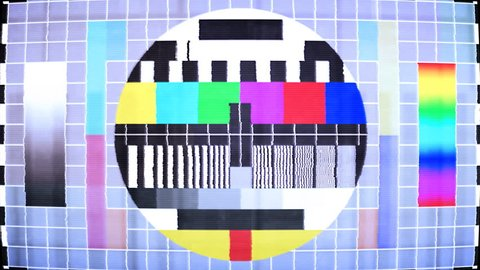 TV Test, noise, jitter and flickering. Seamless loop. More options available in my portfolio.