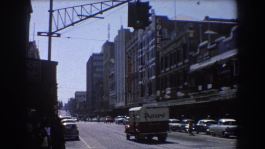 BRISBANE AUSTRALIA 1967: a day in the city life. #21720169