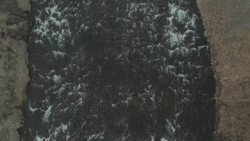 Majestic view of Skogafoss waterfall taken from drone  | Shutterstock HD Video #21721459