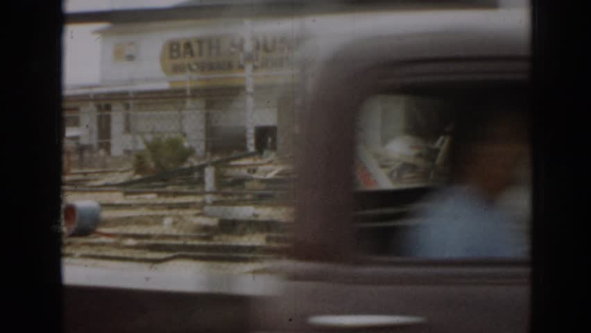 NEW JERSEY 1963: bath house and walk in boys arcade   Shutterstock HD Video #21744709