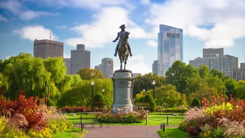 Boston, Massachusetts, USA Public Garden time lapse.