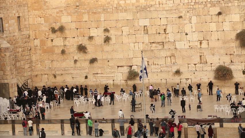 Stock Video Clip of Jerusalem, Israel - Nov 06, 2016: Jewish ...