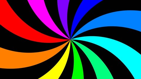 Rainbow spectral swirl rotating slowly clockwise, seamless loop