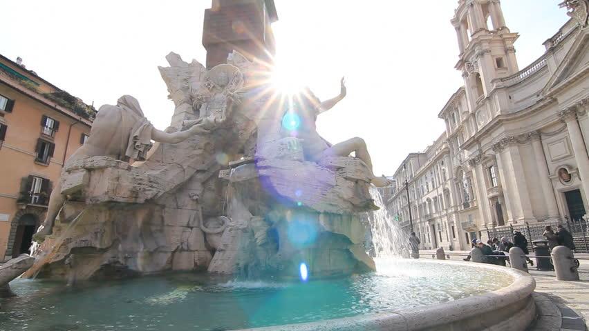 Piazza Navona fountain in Rome 3