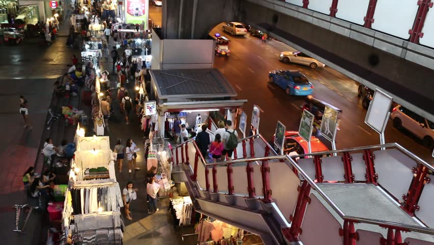 Bangkok Thailand 3th December 2016 Khao San Road Shopping Street In