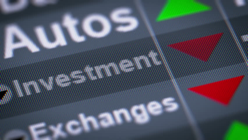 Investment index on the screen. Down. Looping.   Shutterstock HD Video #21919159