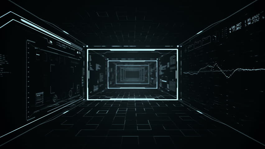 Futuristic Hud Tunnel  Camera Zoom Stock Footage Video (100% Royalty-free)  21929269 | Shutterstock