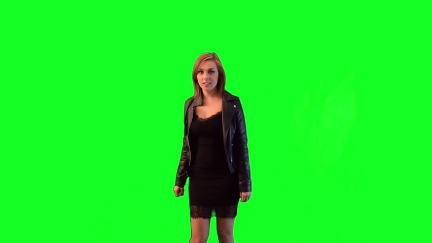 Black Dress Green Screen Footage Stock Footage Video (100% Royalty-free)  21975739   Shutterstock