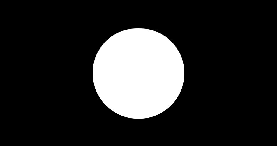 Liqiud Blobs Dropping Out of Empty Circle With Space For Logos as a Rendered Animation Video White on Black