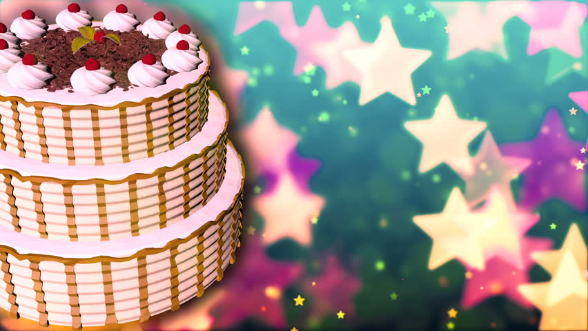 Happy Birthday Cake  Loopable Abstract Stock Footage Video (100%  Royalty-free) 22005709 | Shutterstock