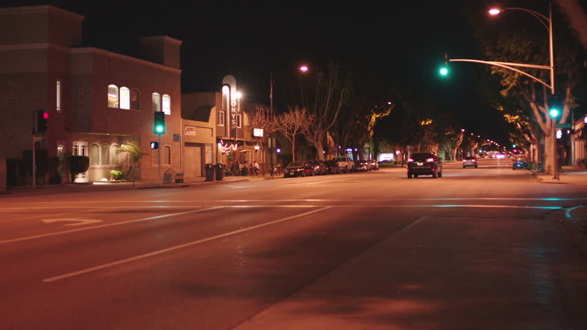 Night Quiet Small Town Street See Only One Business That Busy Bar Restaurant Patio Seating