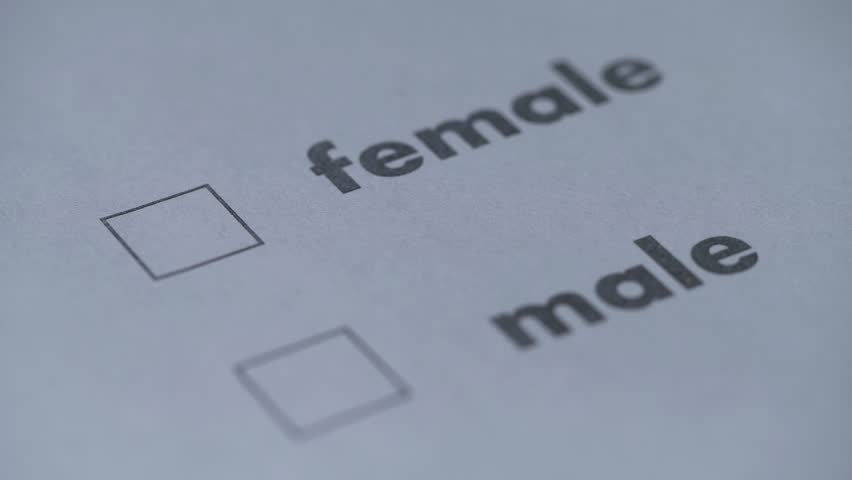 Filling the questionnaire, sex selection of male or female | Shutterstock HD Video #22054309
