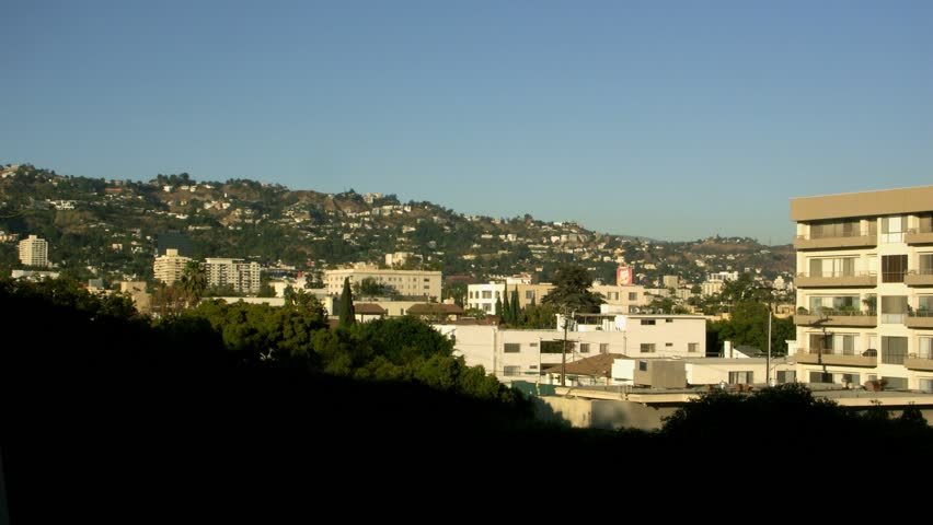 Timelapse day to night landscape, Beverly Hills, Los Angeles, California.