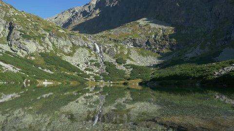Waterfall Mountain and Lake