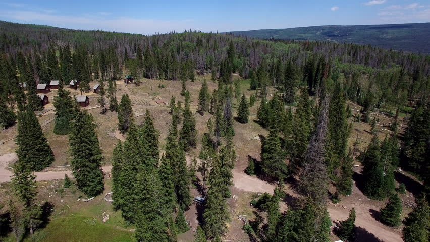 Lakeside drone footage moving away from campground at Lyman Lake in Utah | Shutterstock HD Video #22119409