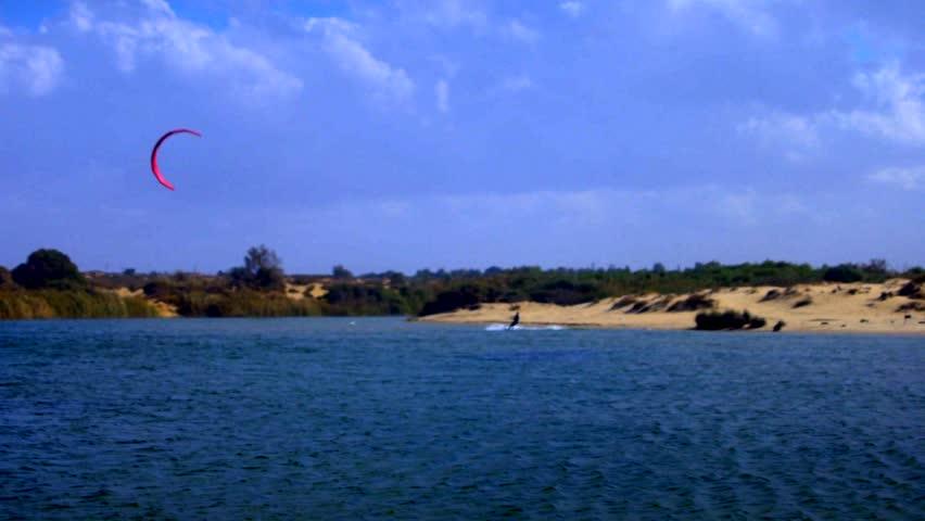 Kite Surfing, south of Israel, filmed 50p, color graded