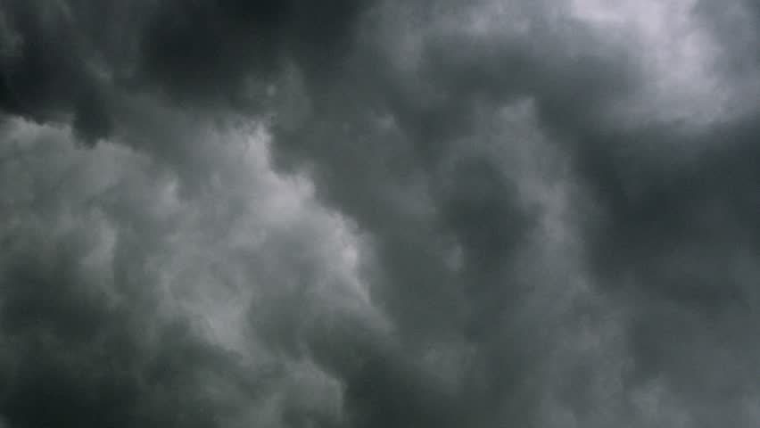 Timelapse of storm clouds.
