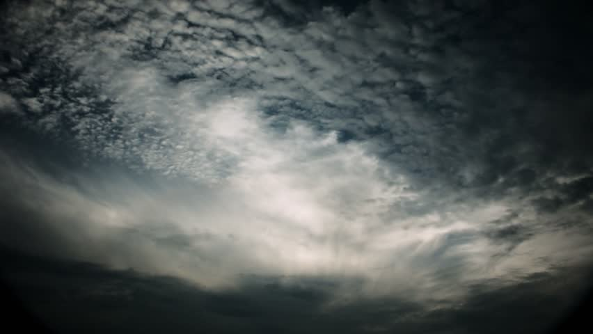 Timelapse of altocumulus clouds during dusk.