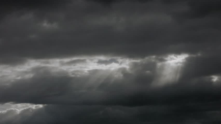 Timelapse of clouds with sunbeam. #2215819