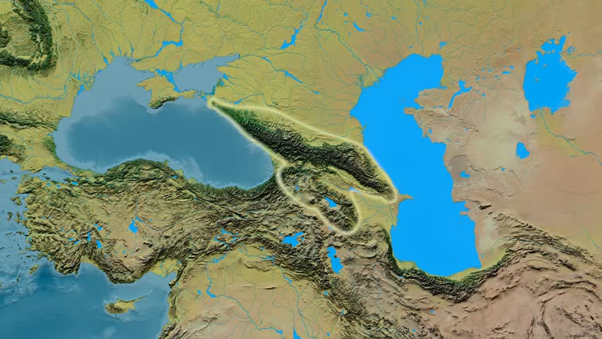 Zoom Into Caucasus Mountain Range Masks Natural Earth High - Aster gdem free download