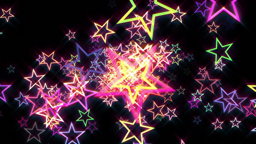 Colorful Disco Retro Stars Burst Psychedelic Motion Background Loop | Shutterstock HD Video #22185877